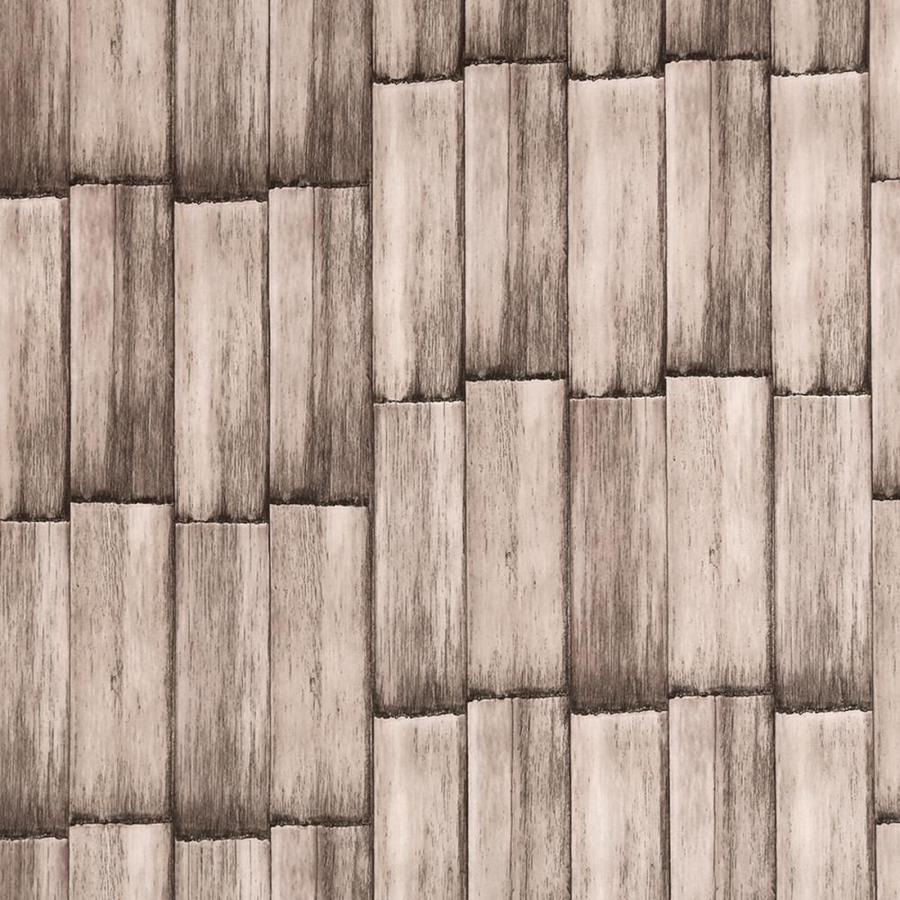Dundee Deco Falkirk Mcgowen 26 6 Sq Ft Grey Vinyl Paintable Textured Wood Self Adhesive Peel And Stick Wallpaper In The Wallpaper Department At Lowes Com