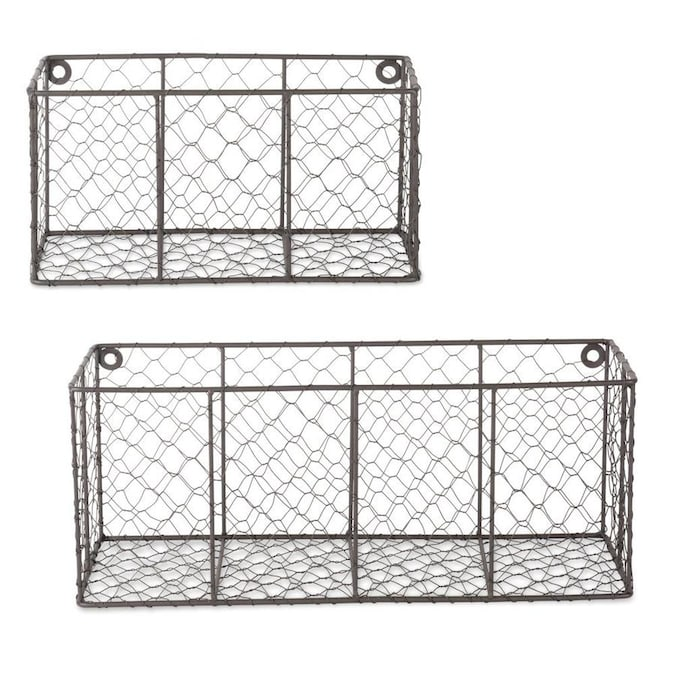 Dii Wall Mount Chicken Wire Basket Set Of 2 S M In The Storage Bins Baskets Department At Lowes Com