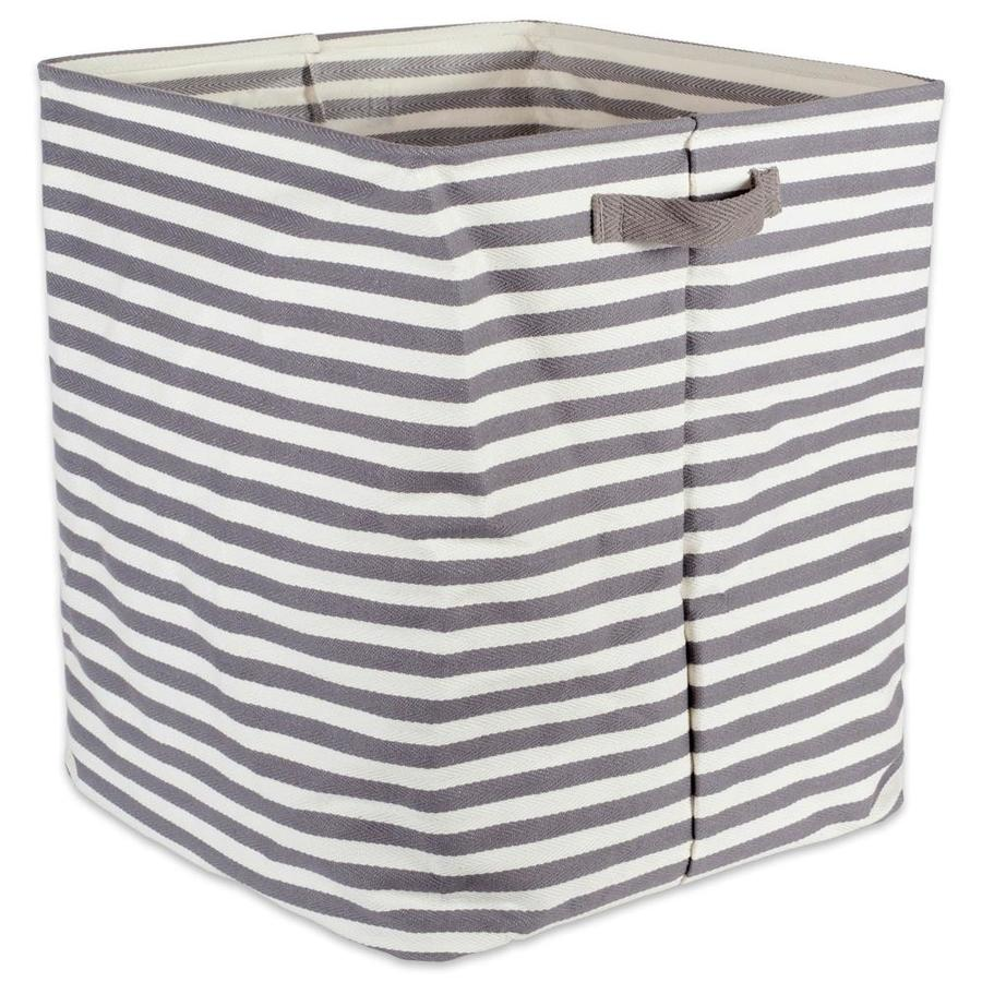 Perfect In Your Bedroom Nautical Blue Rugby Stripe Dorm XS Set of 2 8 x 9.5 x 7 Closet Nursery DII Cotton//Polyester Cube Laundry Basket