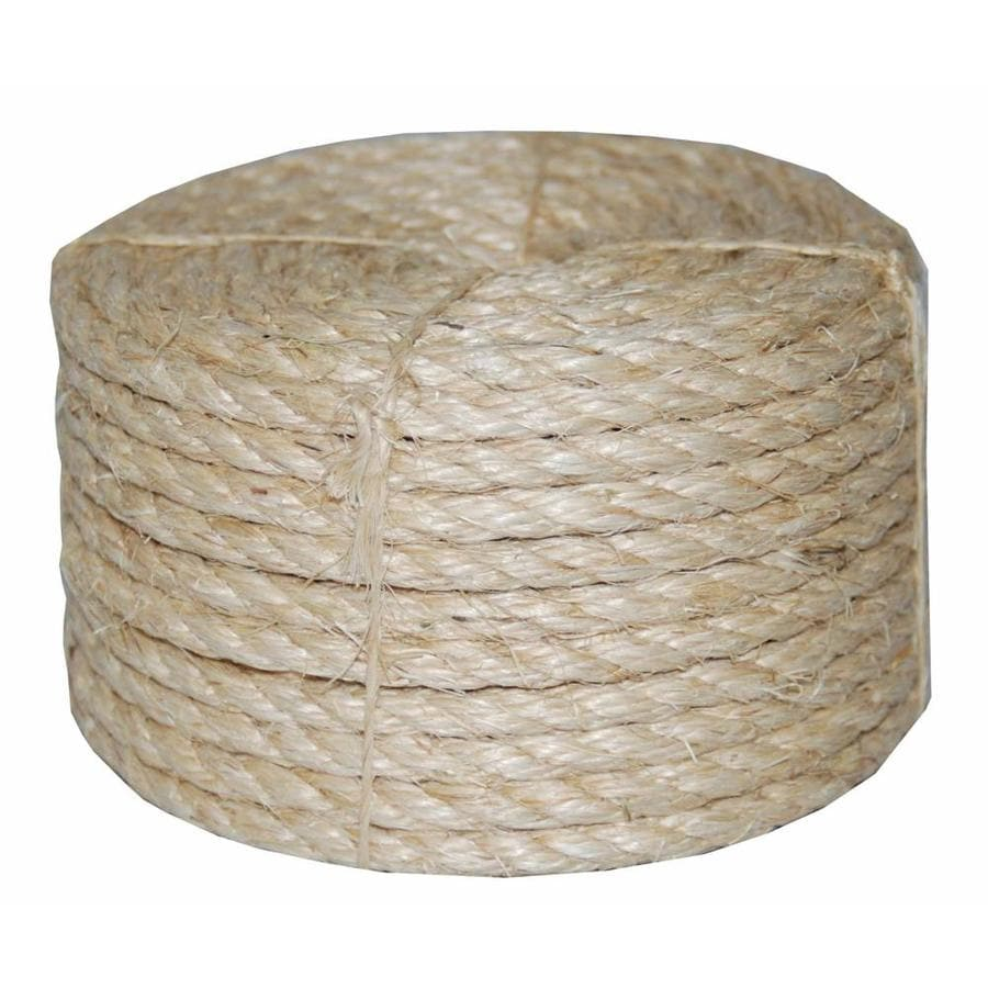 T W Evans Cordage 0 5 In X 50 Ft Twisted Sisal Rope By The Roll In The Rope By The Roll Department At Lowes Com