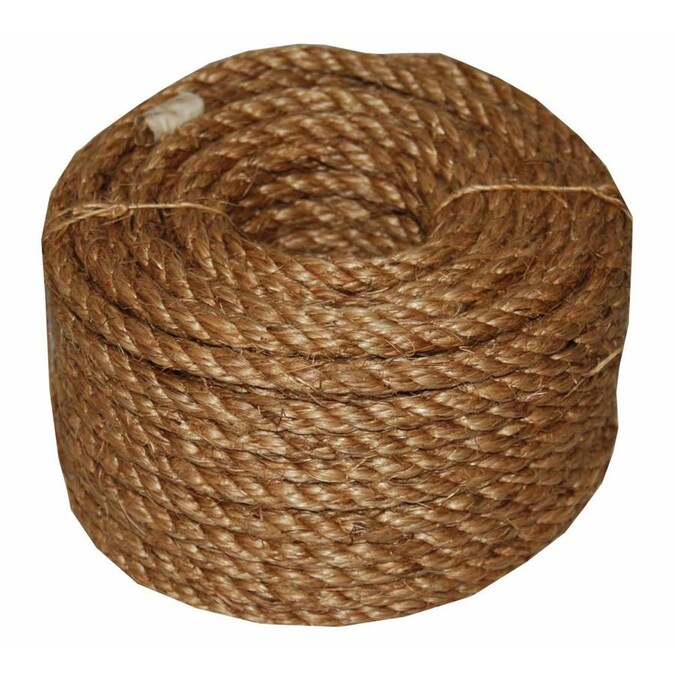T W Evans Cordage 0 25 In X 100 Ft Twisted Manila Rope By The Roll In The Rope By The Roll Department At Lowes Com