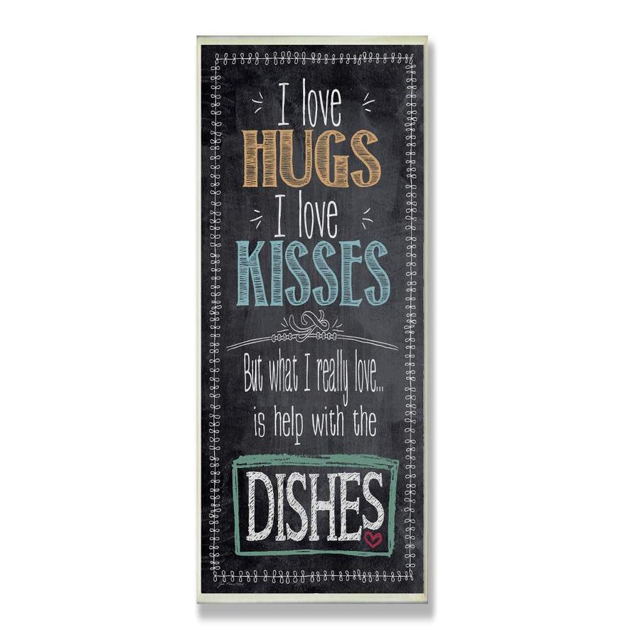 Stupell Industries I Love Help With The Dishes Kitchen Wall Plaque Frameless 17 In H X 7 In W Kitchen Wood Print In The Wall Art Department At Lowes Com