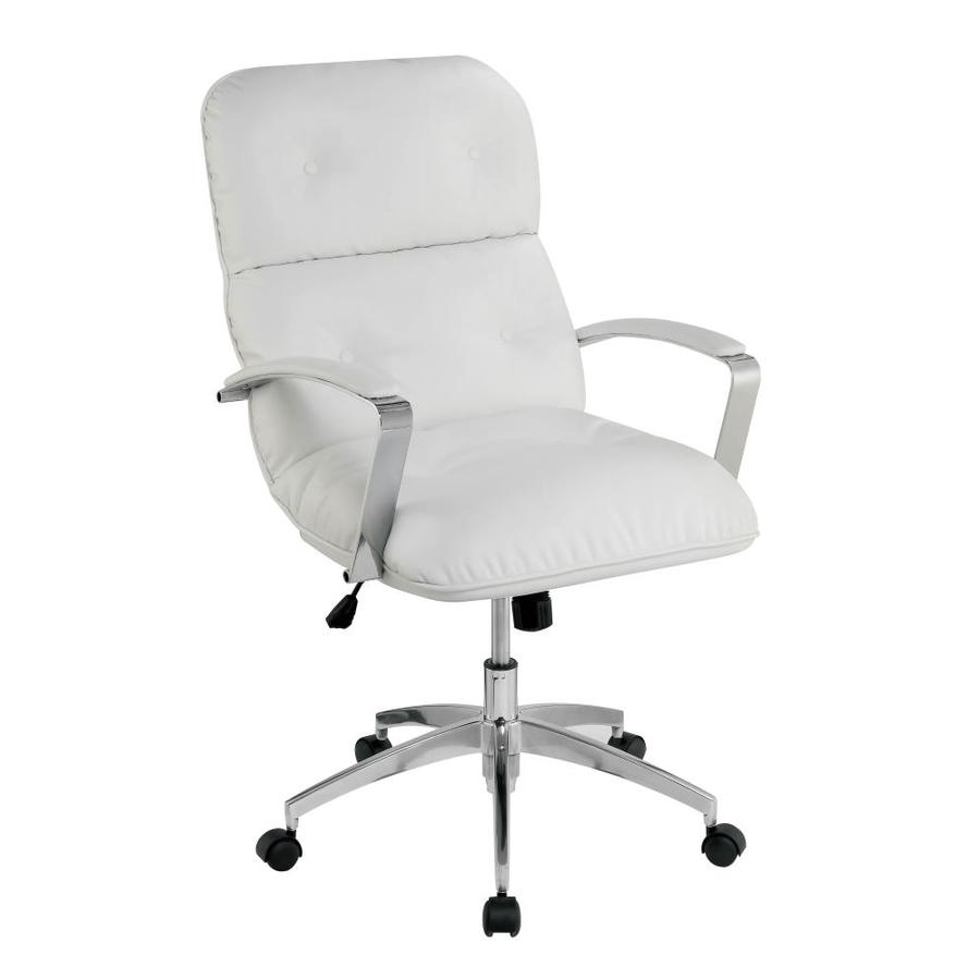 Furniture of America Wyatt Tufted White Faux Leather Executive Chair