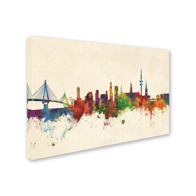 Hamburg Germany Cityscape Giclee Canvas Picture Art