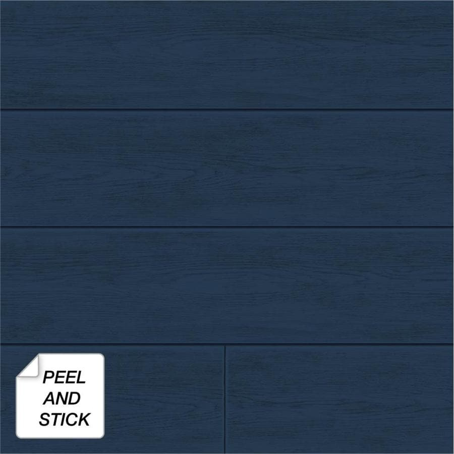 Nextwall 30 75 Sq Ft Coastal Blue Vinyl Wood Self Adhesive Peel And Stick Wallpaper In The Wallpaper Department At Lowes Com