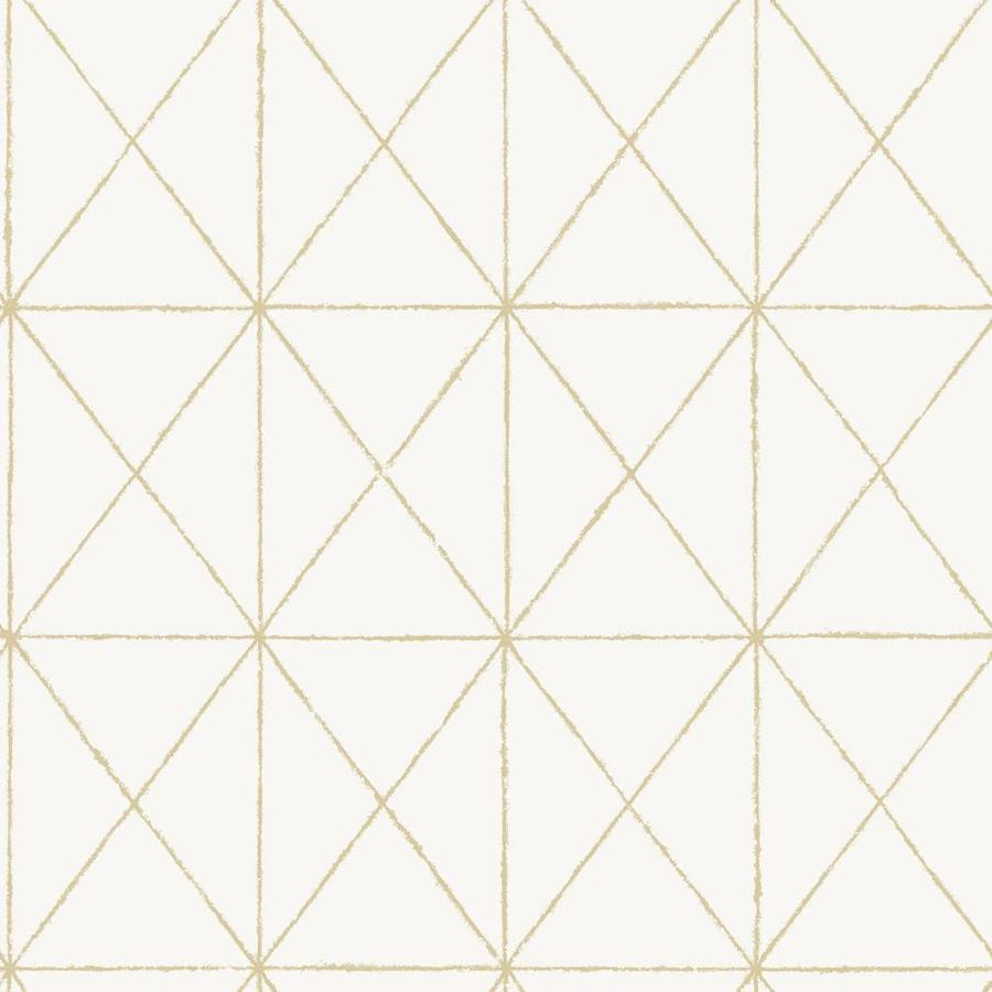 Nuwallpaper 30 75 Sq Ft White Vinyl Geometric Self Adhesive Peel And Stick Wallpaper In The Wallpaper Department At Lowes Com