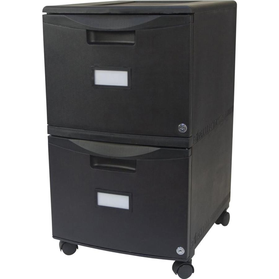 Storex Storex® 35-Drawer Mobile File Cabinet with Lock, Legal/Letter, Black