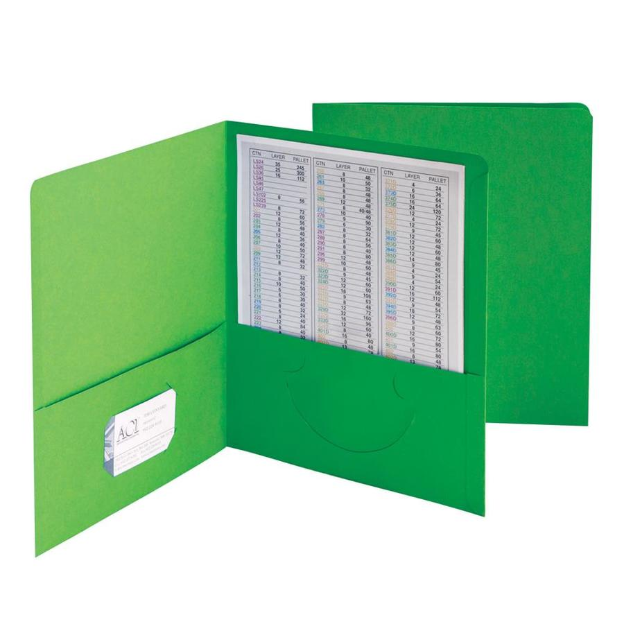 50 per C Letter Size Smead Two-Pocket Heavyweight File Folder Assorted Colors
