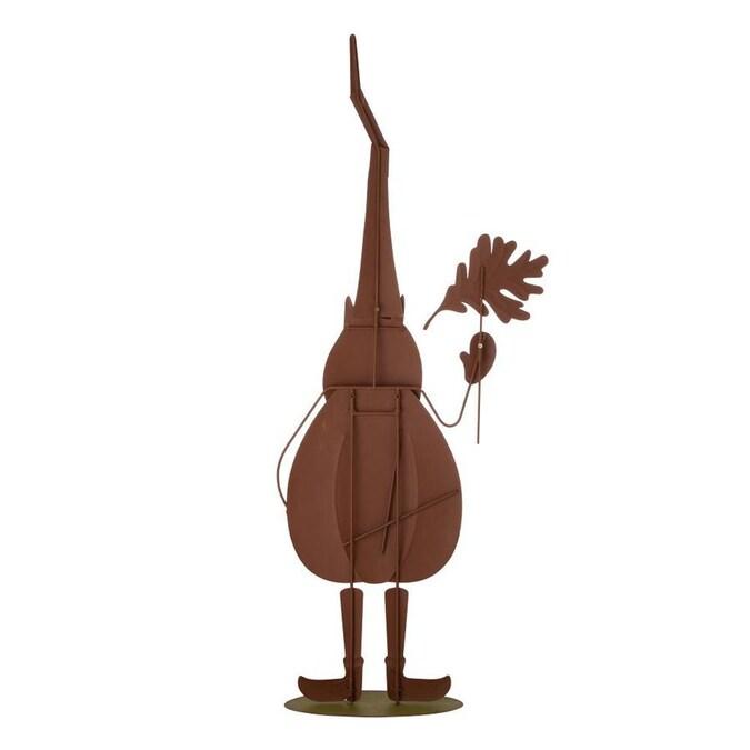 Métal Silhouette Gnome avec arrosoir 40.5 cm haute