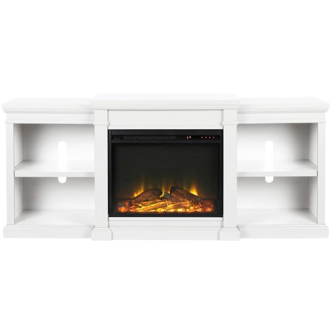 Ameriwood Home Ameriwood Home Manchester Electric Fireplace Tv Stand For Tvs Up To 70 In White In The Electric Fireplaces Department At Lowes Com
