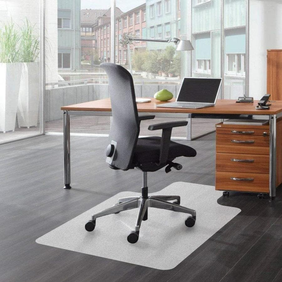 Office Floor Protector Home Office Chair Mat 30x30cm//11.81x11.81in Clear Rectangle PVC Chair Mat Protector Non-Slip Computer Chair Carpet Floor Mat Multi-Purpose Floor Protector