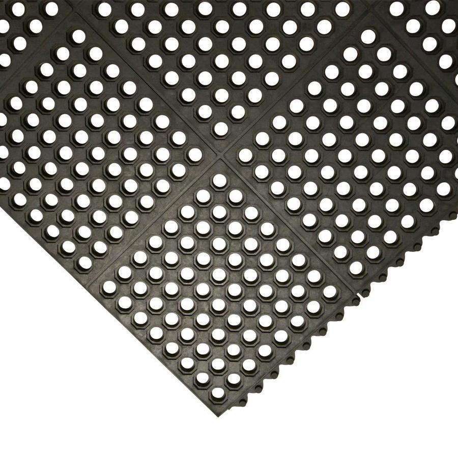 Black Interlock Drainage Mat 3 ft.x3 ft.