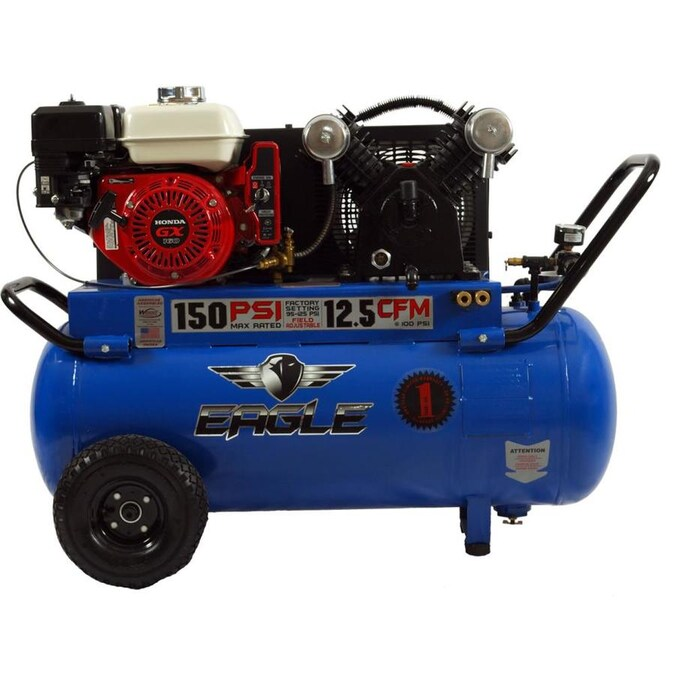 EAGLE Eagle 5.5 -HP 25 gallon Portable Gas Air Compressor Electric Start