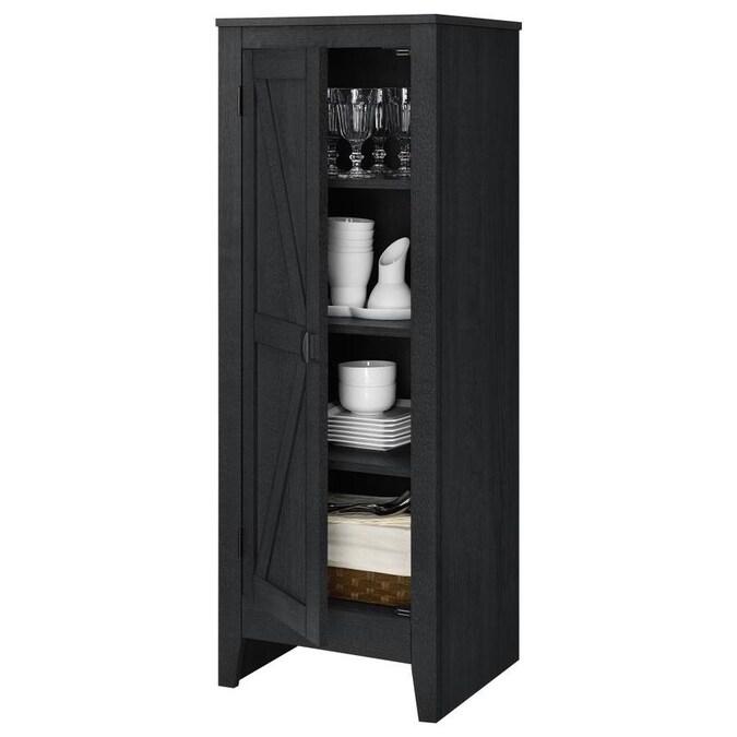 Ameriwood Home Farmington Storage Cabinet, Black Oak in ...