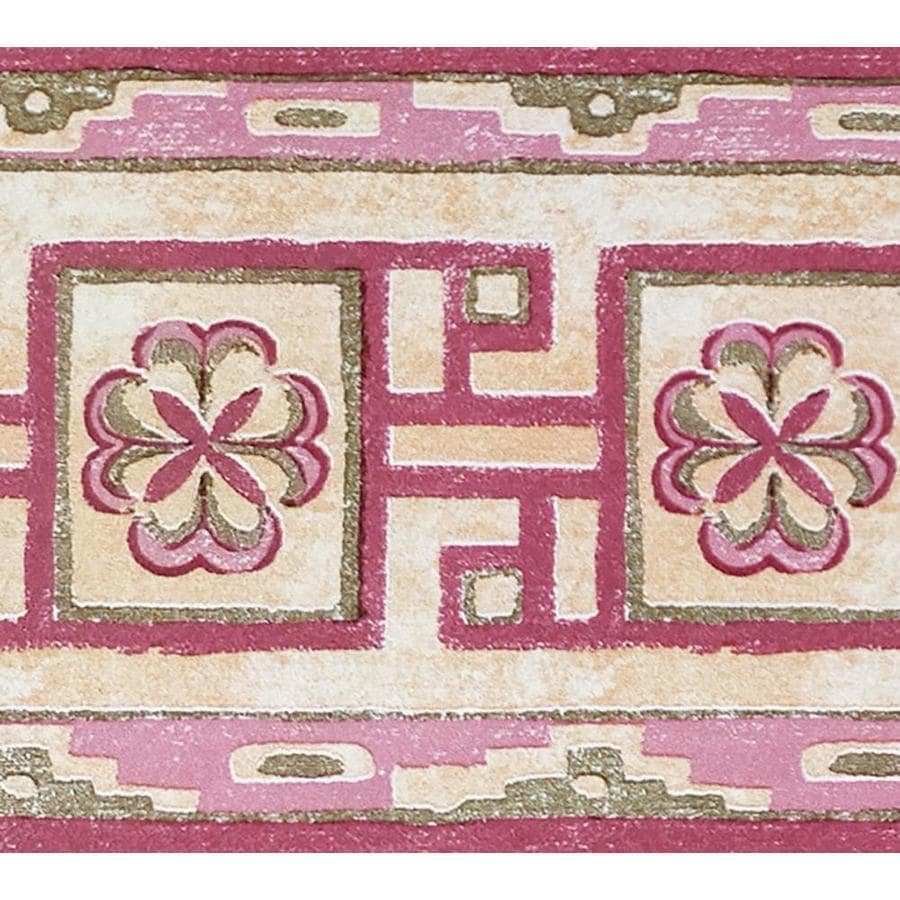 Dundee Deco 4 In Pink Beige Self Adhesive Wallpaper Border In The Wallpaper Borders Department At Lowes Com