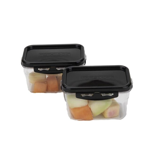 3x Easy Lock Food Storage Containers Shatterproof BPA Free Airtight Keep Fresh