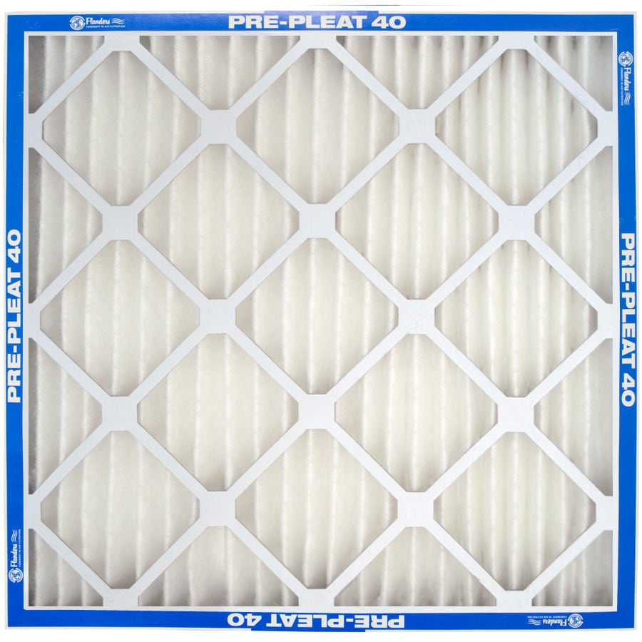 Flanders 12-Pack 25-in x 16-in x 1-in Pleated Ready-to-Use Industrial HVAC Filter