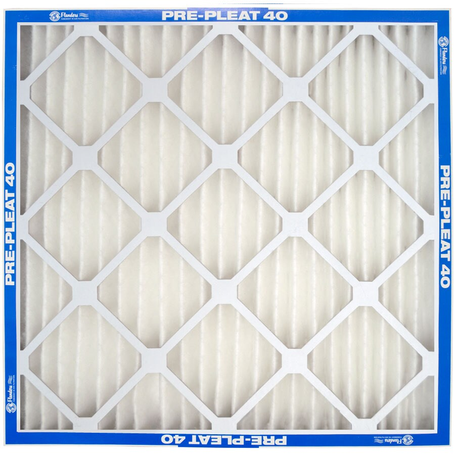 Flanders 12-Pack 24-in x 18-in x 1-in Pleated Ready-to-Use Industrial HVAC Filter