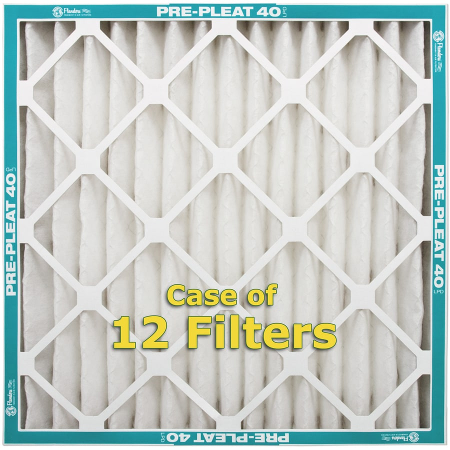 Flanders 12-Pack 16-in x 16-in x 2-in Pleated Air Filters