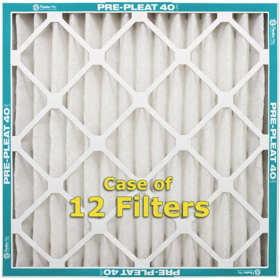 Flanders 12-Pack 16-in x 25-in x 2-in Pleated Air Filters