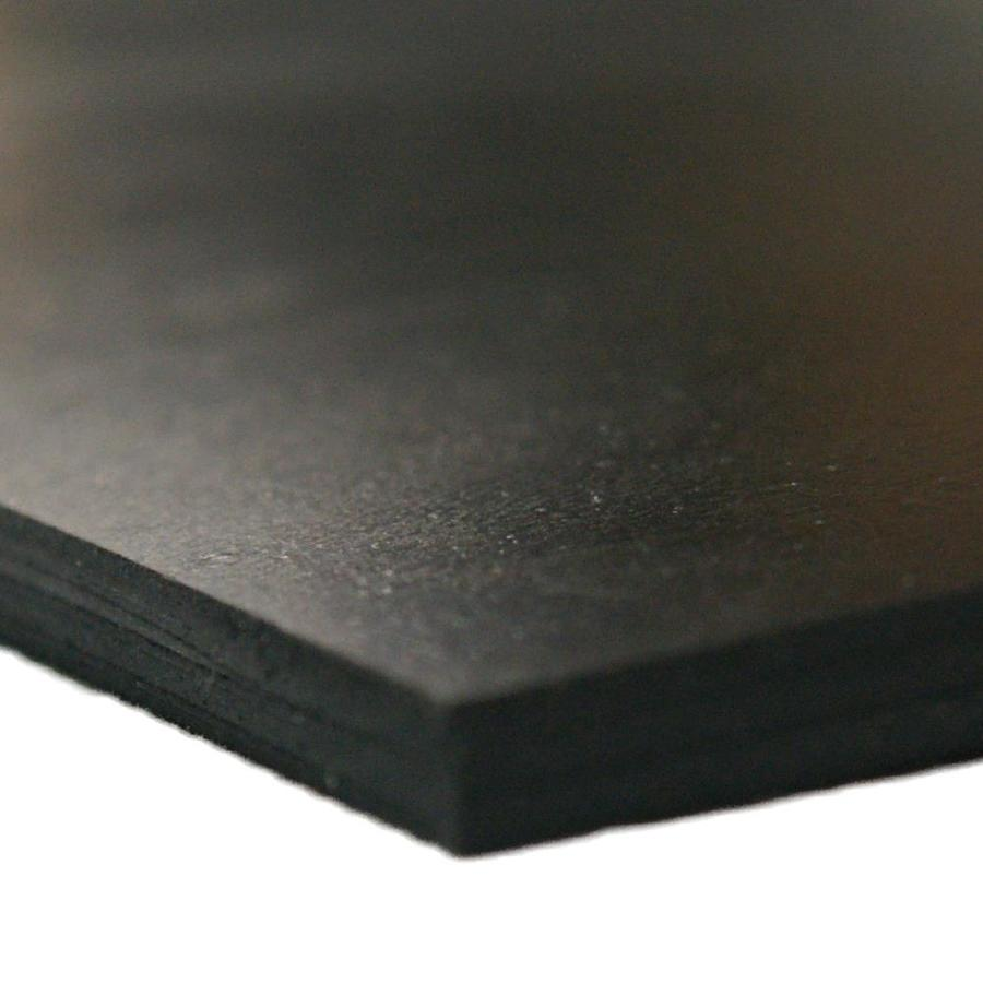 40A Durometer Neoprene Sheet 0.125 Thickness No Backing 36 Length 12 Width Black Smooth Finish
