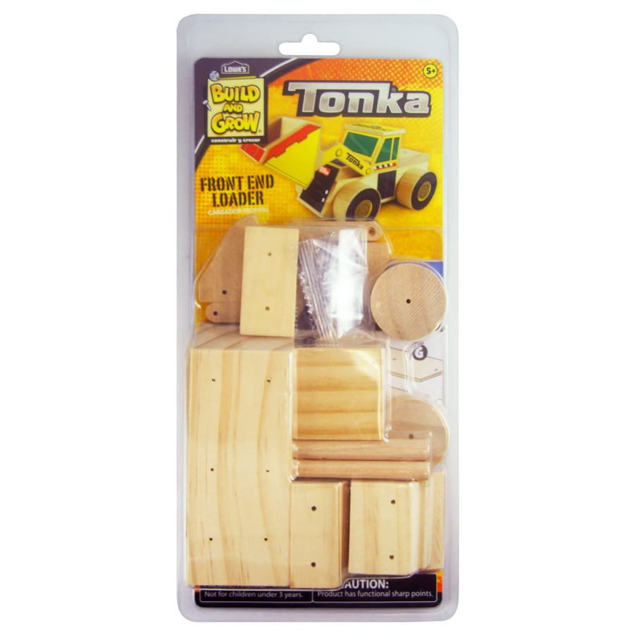 Build and Grow Kid's Beginner Build and Grow Tonka Front End Loader Project Kit