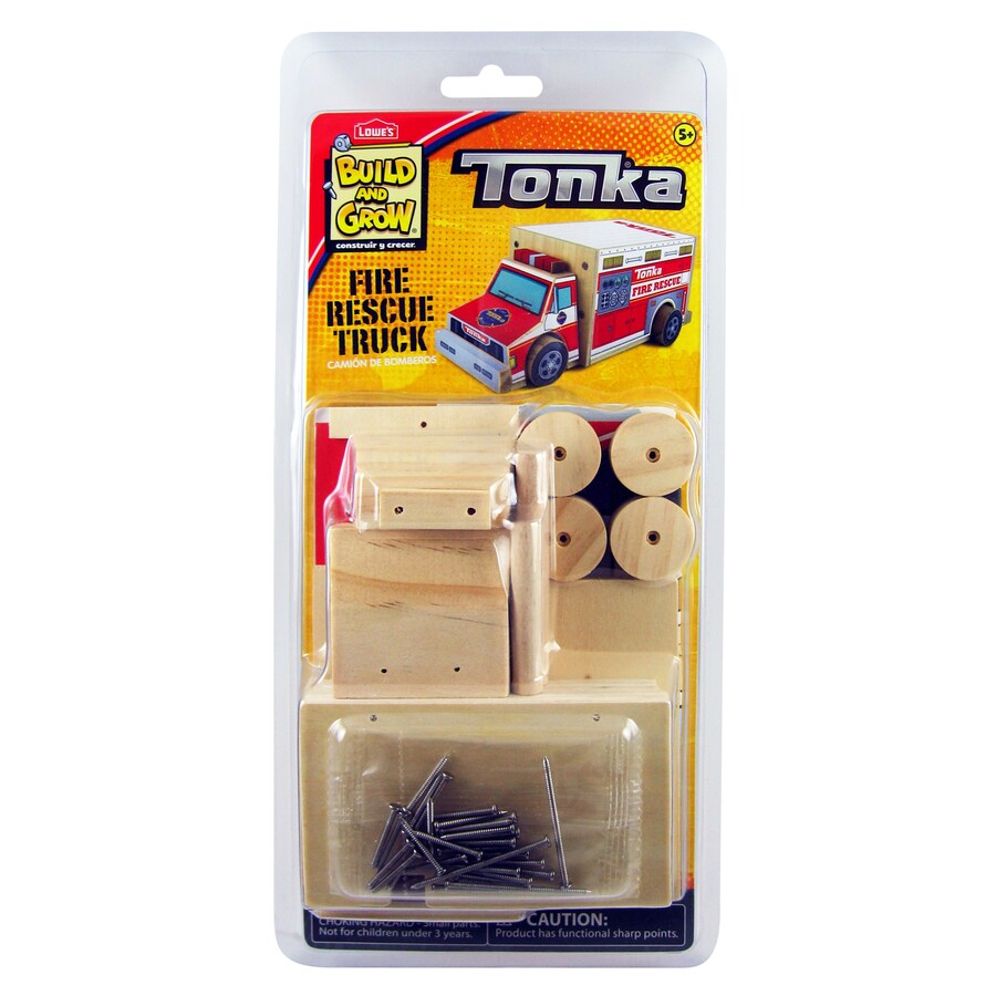 Build and Grow Kid's Beginner Tonka Fire Rescue Truck Project Kit