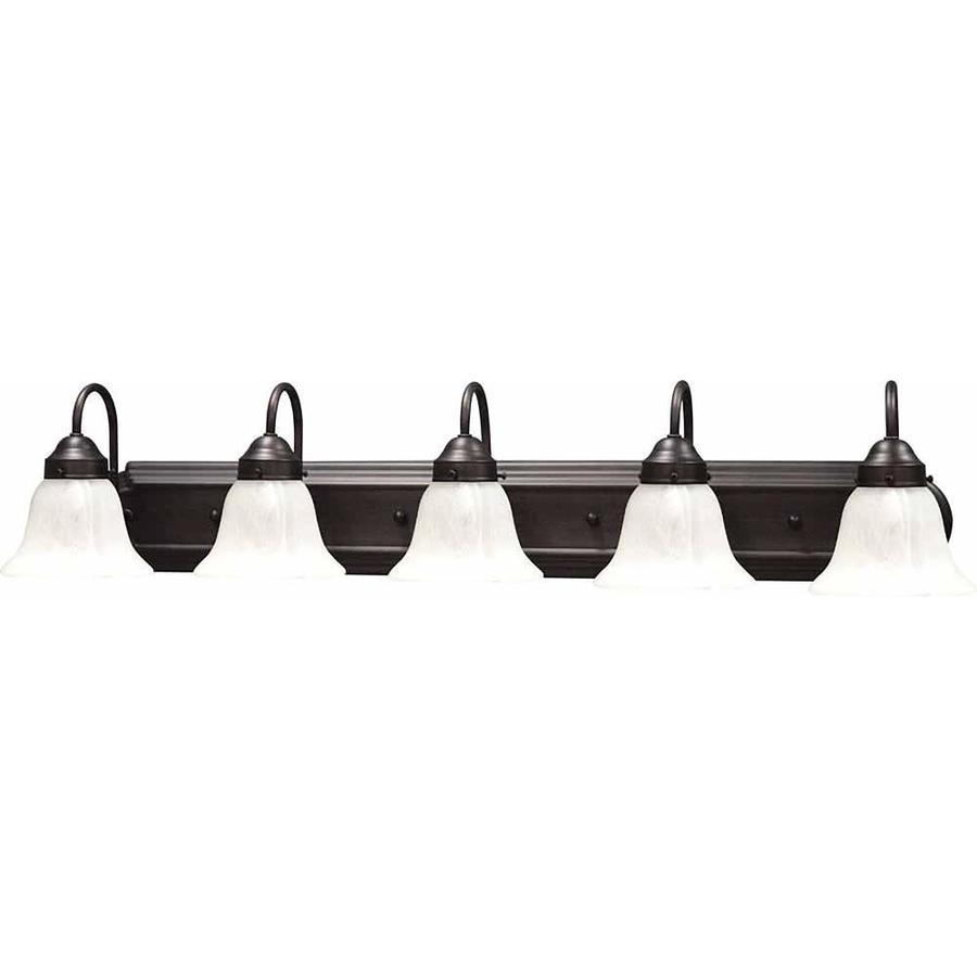 Lamonte 5-Light Florence Bronze Vanity Light