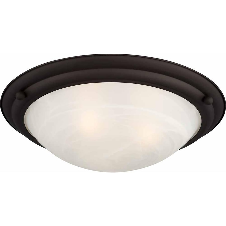Abilene 15.5-in W Antique Bronze Ceiling Flush Mount Light
