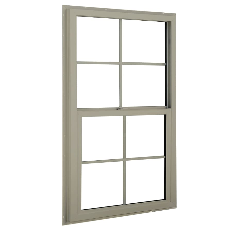 BetterBilt 3040TX Aluminum Double Pane Single Strength Single Hung Window (Rough Opening: 24-in x 36-in; Actual: 23.375-in x 35.5625-in)