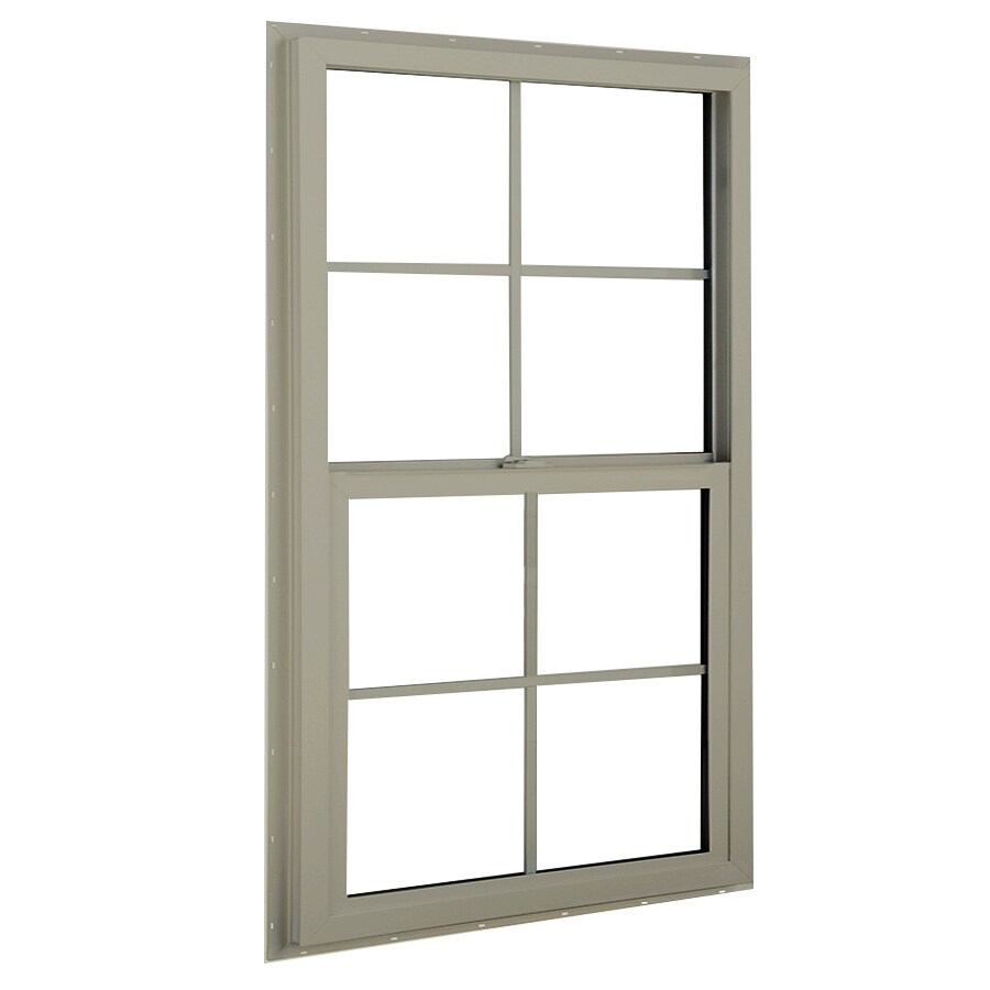 BetterBilt 3040TX Aluminum Double Pane Single Strength Single Hung Window (Rough Opening: 36-in x 36-in; Actual: 35.375-in x 35.5625-in)