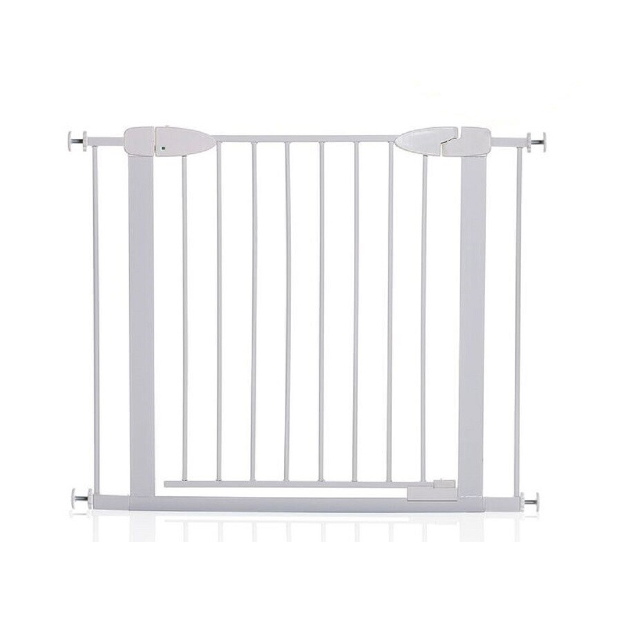Dreambaby Boston Auto-Close with EZY Check Indicator 38-in x 29.5-in White Metal Child Safety Gate
