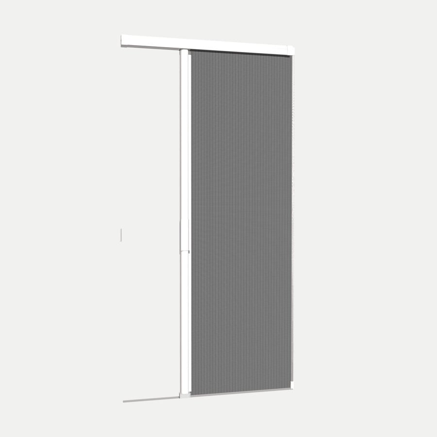 Shop phantom screens 36 in x 81 3 16 in white prehung for Phantom sliding screen doors