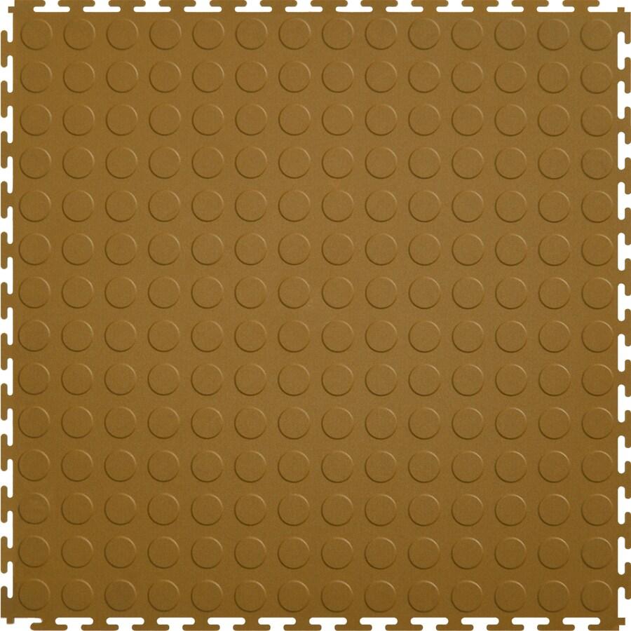 Perfection Floor Tile 8-Piece 20.5-in x 20.5-in Tan Raised Coin Garage Floor Tile