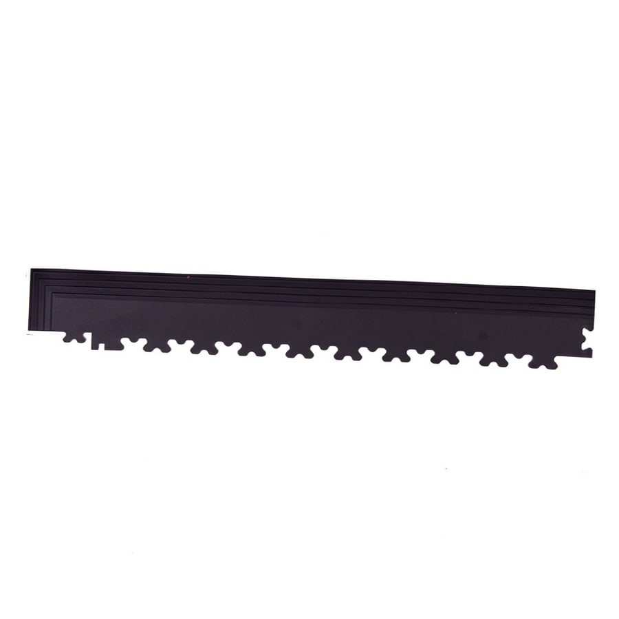 Perfection Floor Tile 4-Pack Black 3-in W x 20-1/2-in L Garage Flooring Corners