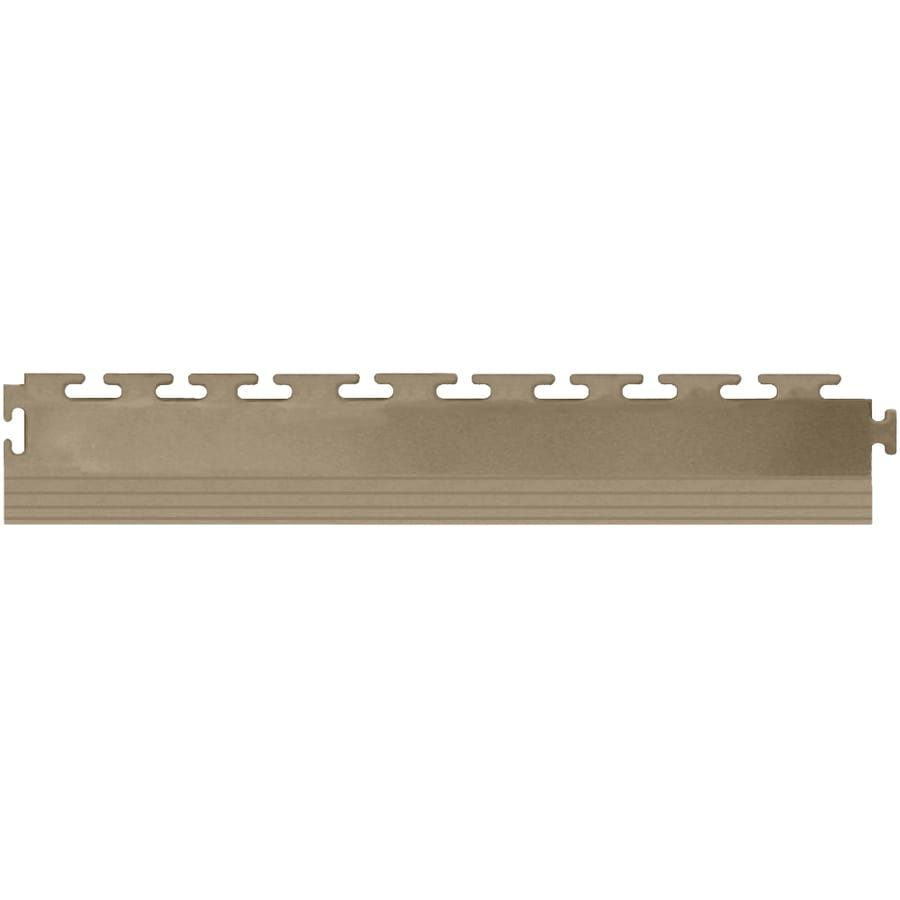 Perfection Floor Tile 4-Pack Beige 3-in W x 20-1/2-in L Garage Flooring Edges