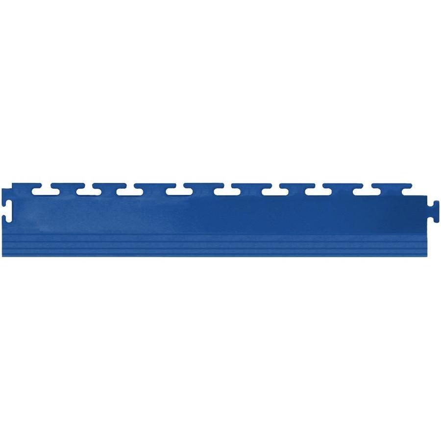 Perfection Floor Tile 4-Pack Dark Blue 3-in W x 20-1/2-in L Garage Flooring Edges
