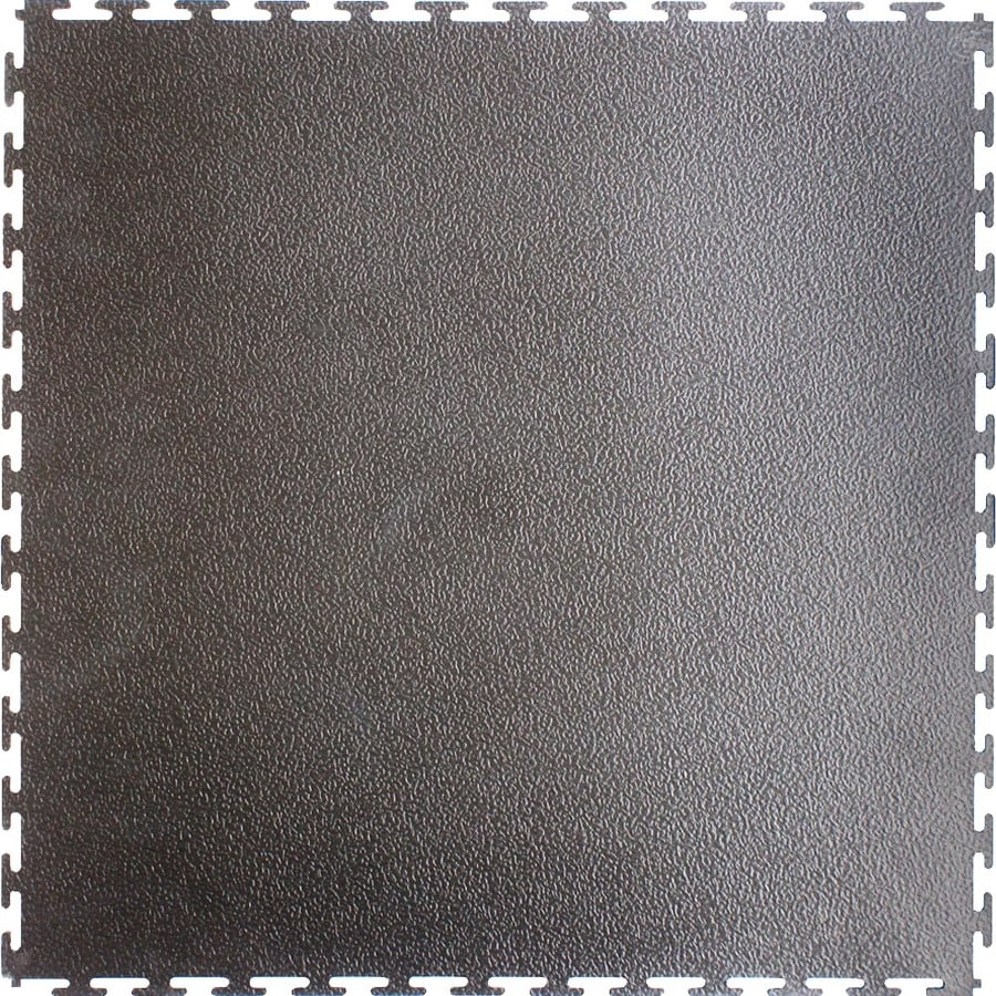 Perfection Floor Tile 20-1/2-in x 20-1/2-in Dark Gray Raised Coin Garage Flooring Tile
