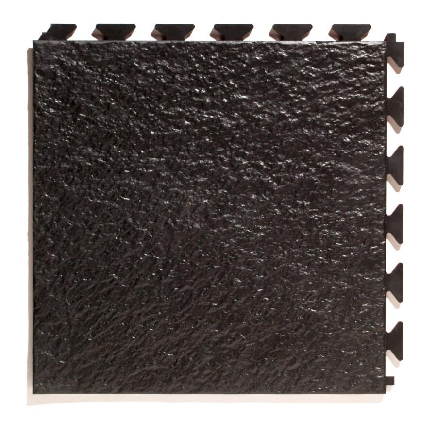 Perfection Floor Tile 6-Piece 20-in x 20-in Black Slate Garage Floor Tile