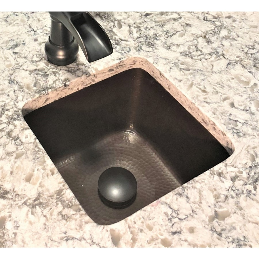 SINKOLOGY Pollock Pure Solid Copper Square Bathroom Sink