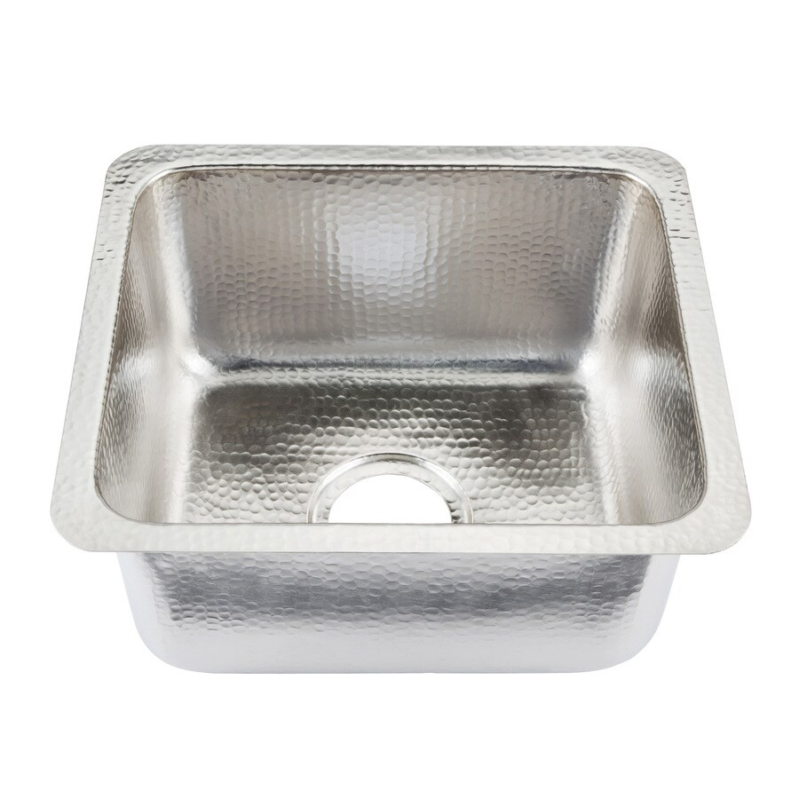 SINKOLOGY Nickel Single-Basin Nickel Undermount Commercial Prep Sink