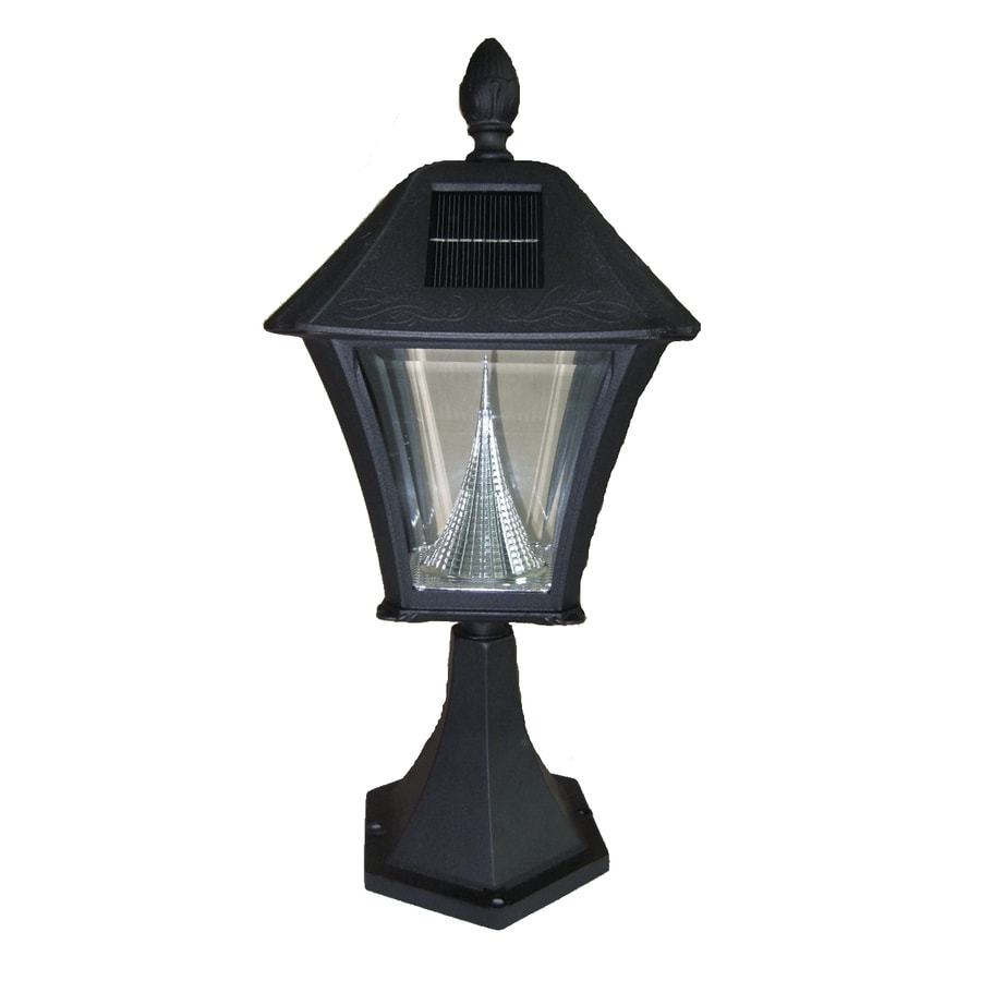 shop gama sonic black solar powered led deck light at. Black Bedroom Furniture Sets. Home Design Ideas