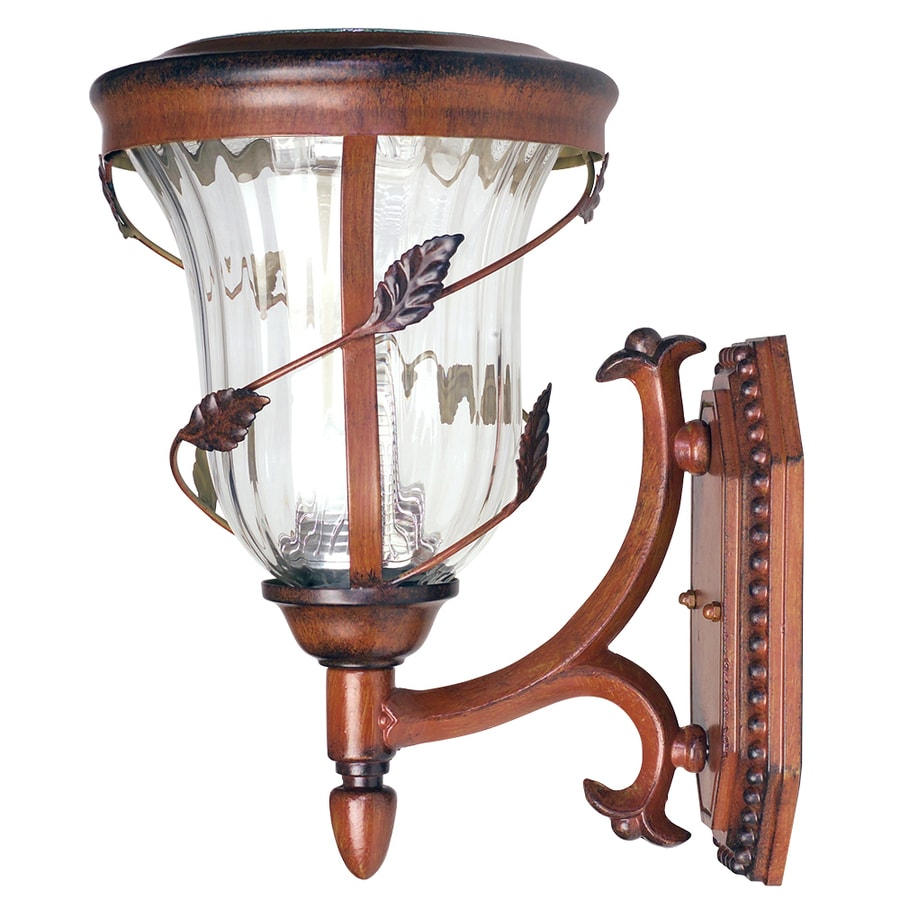Gama Sonic Flora 13-in H LED Antique Bronze Solar Outdoor Wall Light