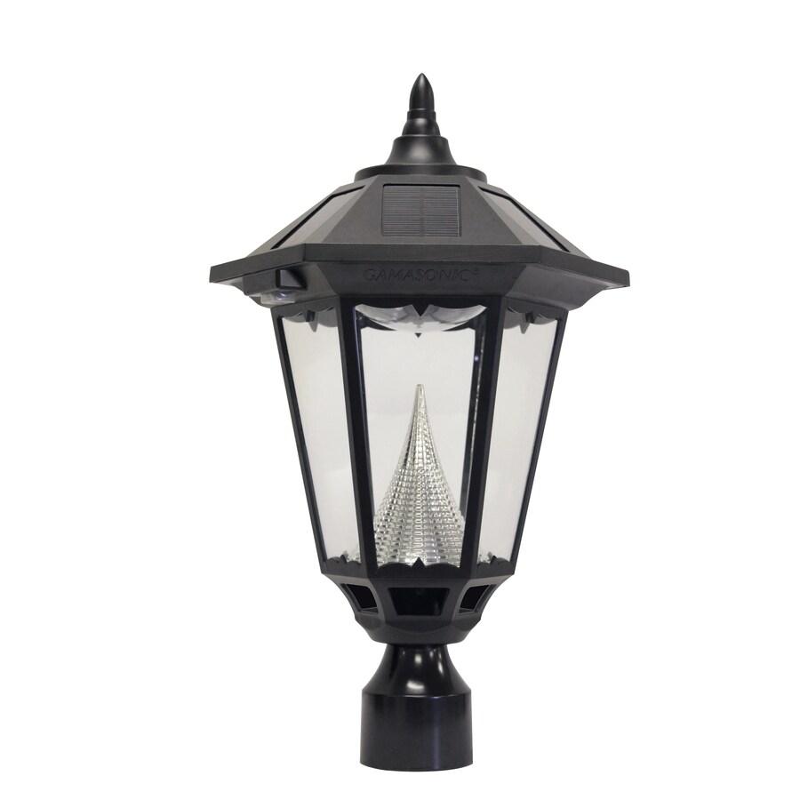 Gama Sonic Windsor 20-in H Black Solar LED Post Light
