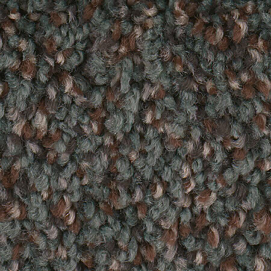 STAINMASTER Essentials Splash City Robins Egg Textured Indoor Carpet
