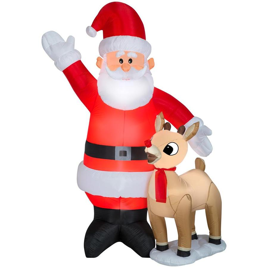 Rudolph 7 5131 ft Lighted Christmas Inflatable