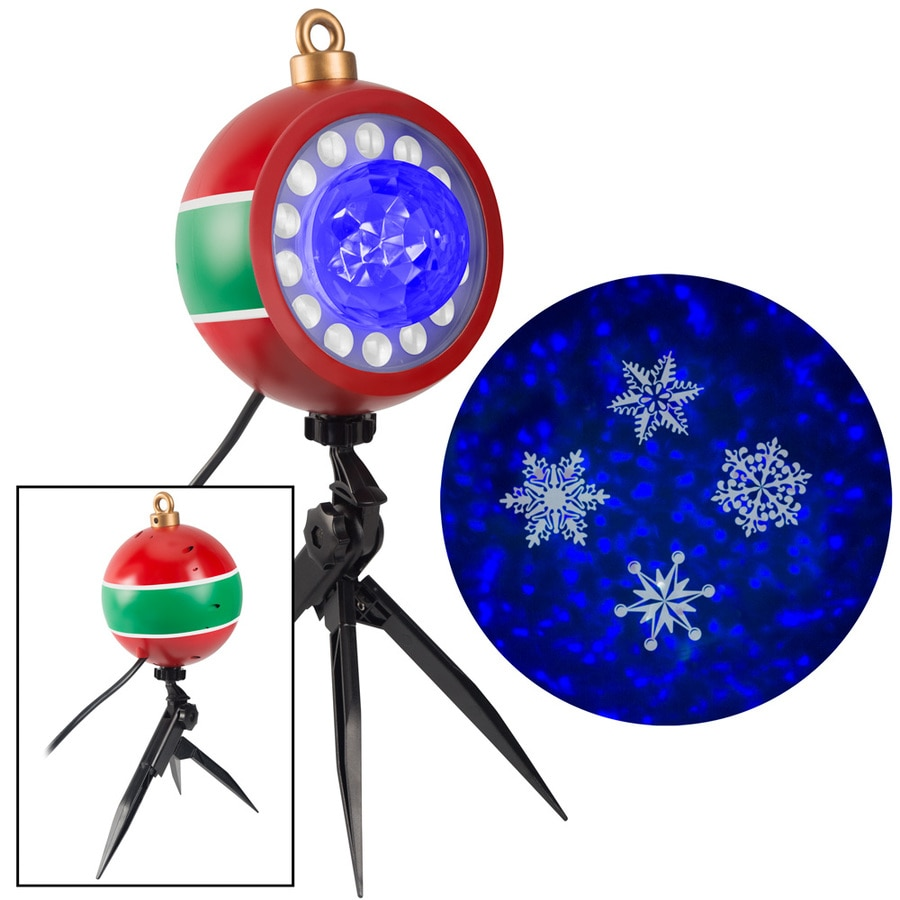 Swirling White//Blue LED Snowflakes Christmas Indoor//Outdoor Light Show Projector
