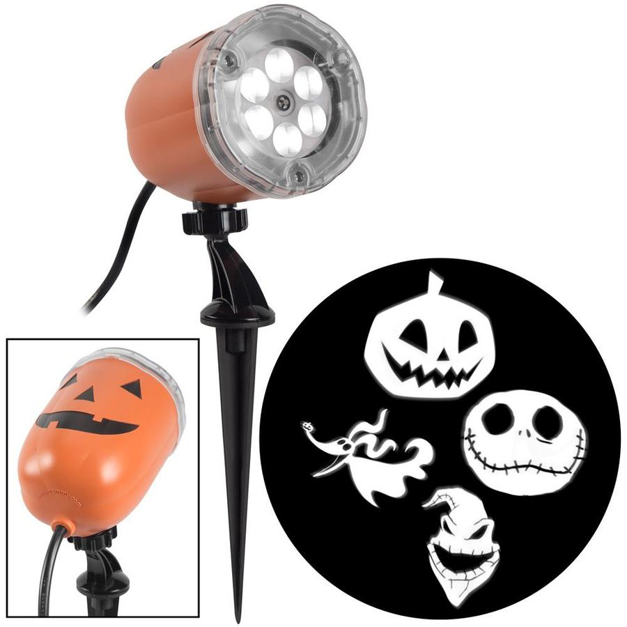 Disney Lightshow Nightmare Before Christmas Projection Swirling White Led Skeleton Halloween Indoor Outdoor Light Show Projector In The Halloween String Lights Department At Lowes Com