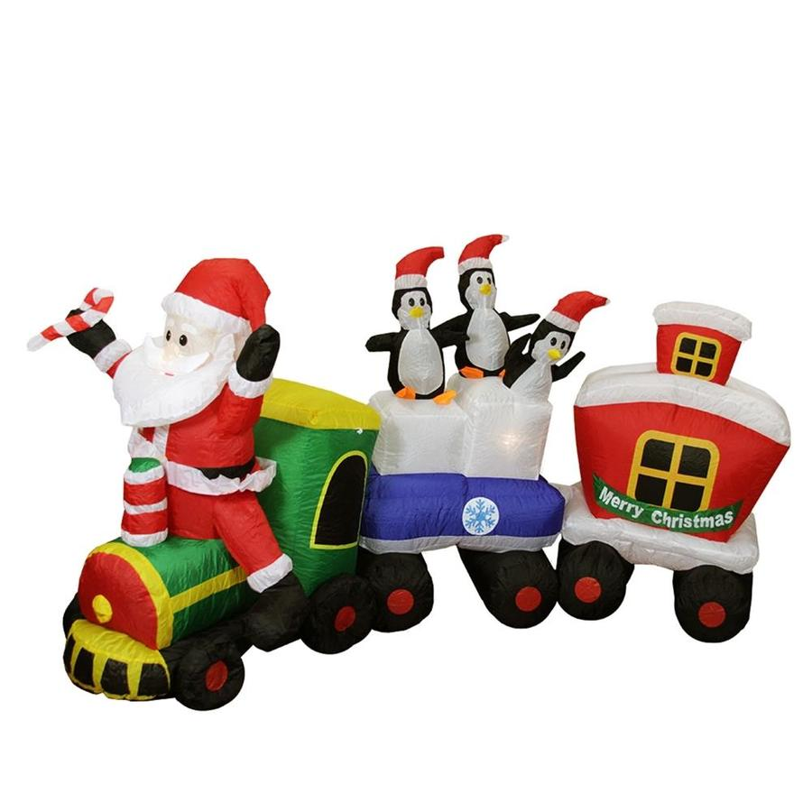Northlight 6 ft Lighted Train Christmas Inflatable