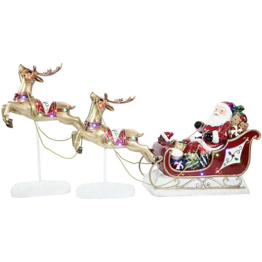 Lighted Christmas 4ft Reindeer /& Sleigh Outdoor Yard Decoration